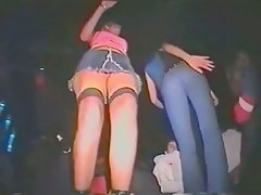 nightspot upskirt with two sex kittens dancing with each other
