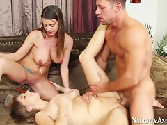 2 Chicks same time, Jonny has been sprightly hard. Glassy Alex Chance,Brooklyn Chase and Johnny Castle.