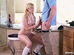 Johnny Sins and Molly Bennett are fetching couple