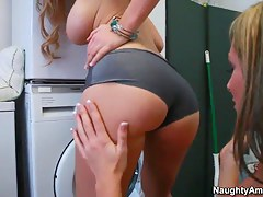 Awesome ungentlemanly with big ass penetrates her friend