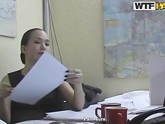 Hot sunless office lady Natasha getting pleasured in say no to office