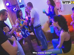 Crazy university students fuck at a hot party