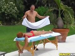 Jmac gives destructive massage to teen slut Krystal Jane