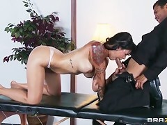 Skilled baneful lover slides his bird earn Dana Vespoli