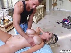 Adorable kirmess pornstar bitch fucks her masseur
