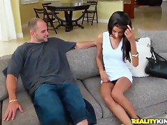 Nadia Nicole squeezes Jmac's beaver-cleaver