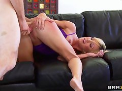 Busty Amy Brooke Fingers Her Own Irritant While Riding Cock