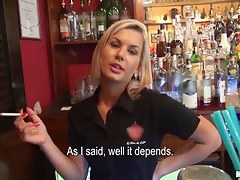 A barmaid teaches you how to fuck her helpful