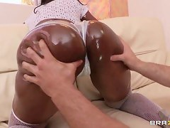 Jordan Ash and sexy blackguardly doll Nyomi Banxx