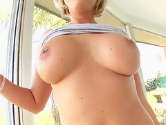 Skylar Price fingers her asshole and plays with toys