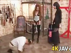 Japanese Femdom And An Old Man