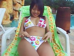 Perfect busty Japanese teen shows not present