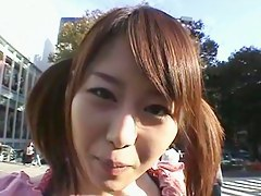 Japanese hottie banged up a public bus
