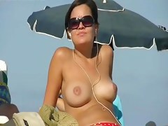 Alluring sweetheart on the beach